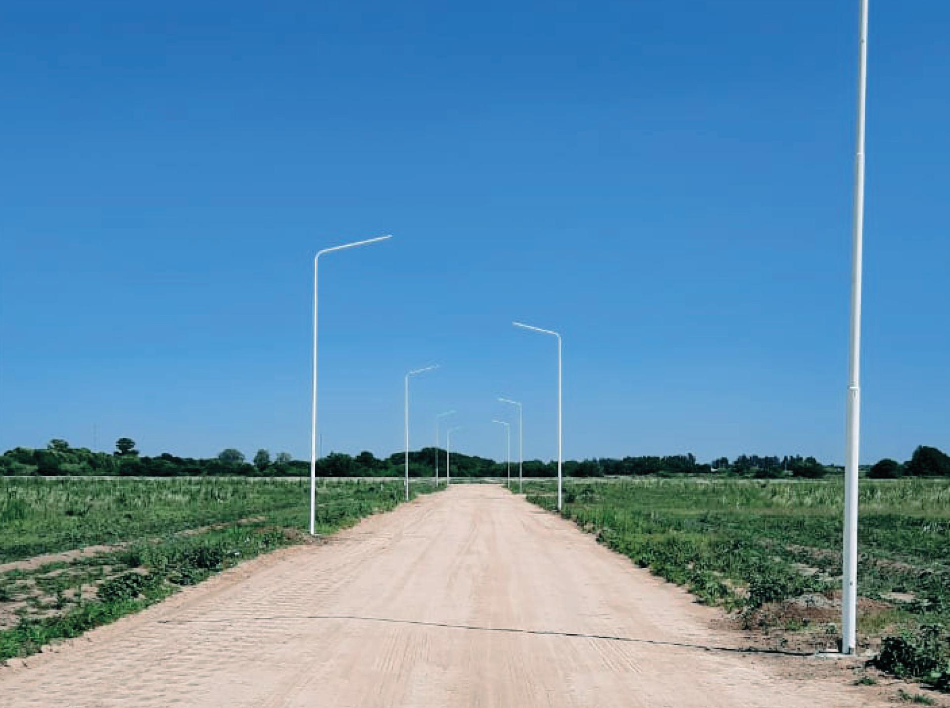 Avance de obra alumbrado público LED