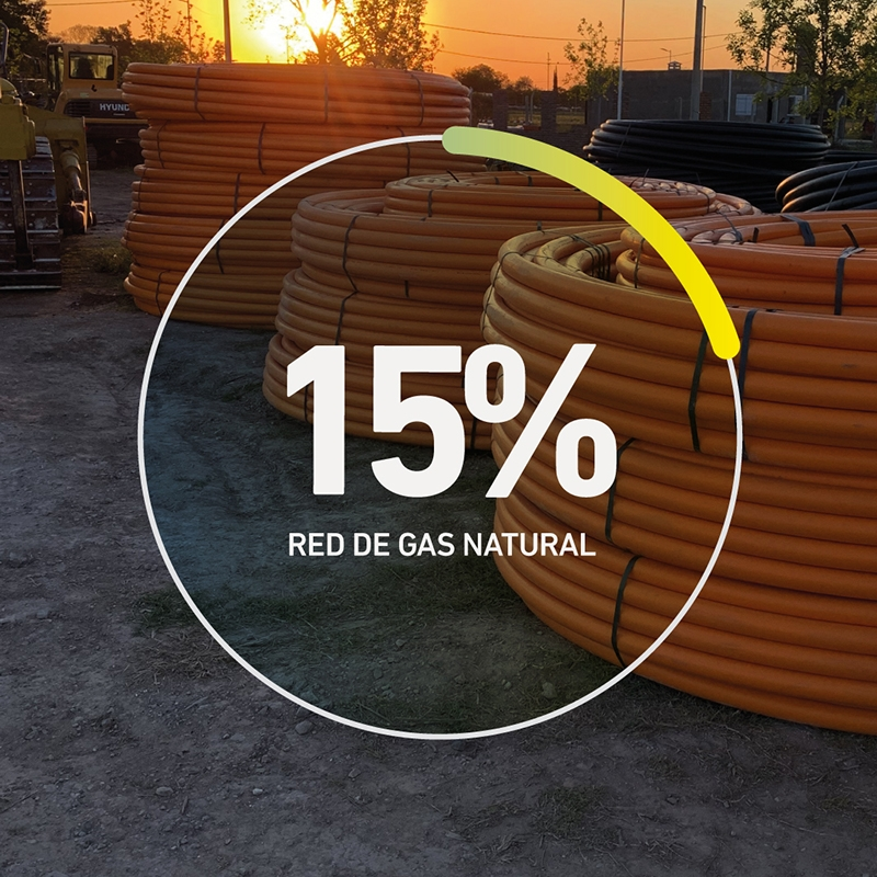 Avance de obra Red de gas natural