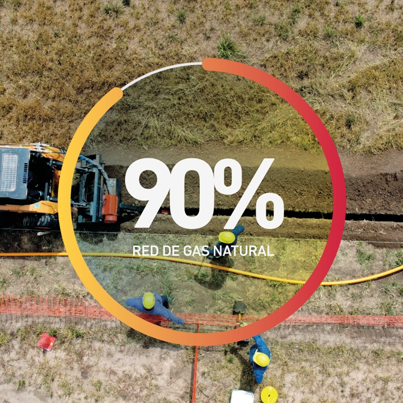 Avance de obra Red de gas natural